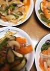 豚肉や茄子いろいろ野菜のポン酢炒め♪