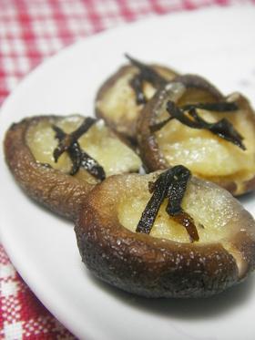 ❤レンジで簡単❤塩昆布チーズ&きのこ