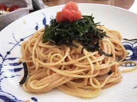 かんたん☆贅沢明太子スパゲティ