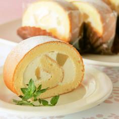 シフォンロールケーキ(白桃)