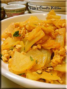 【簡単】じゃが芋と鶏ひき肉の味噌コチュ煮