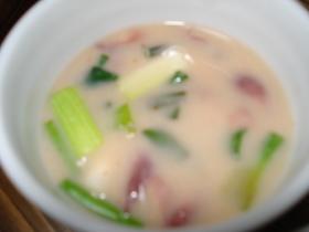 はんなりほたるいかの白味噌スープ