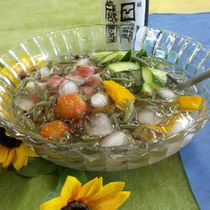 夏野菜の水貝風