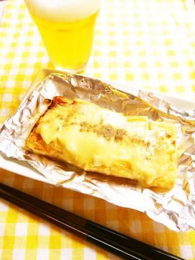 ☺おつまみマンガ飯♪油揚げのチーズ焼き☺