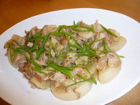 大根と豚肉の梅風味煮