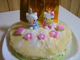 雛祭り仕様♡ミルフィーユ風アイスケーキ♡