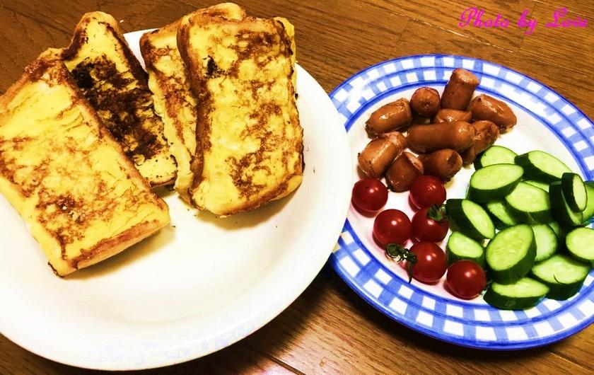 簡単!ふわふわフレンチトースト朝ごはん