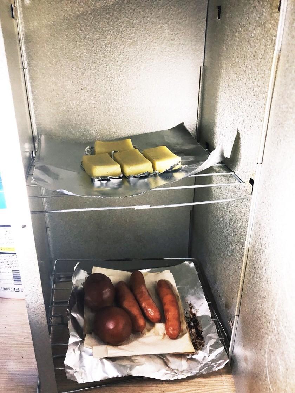 ベビーチーズの燻製