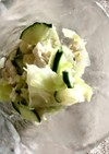 【簡単】ささみとキャベツのサラダ