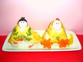 ✿ひな祭り寿司✿ お内裏様&お雛様♡o。