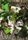 浜納豆とタコのカルパッチョ