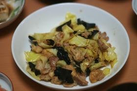 ヤマブシタケと豚肉のオイスター炒め