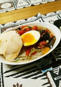 夏野菜たっぷり冷麺