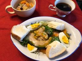 温野菜サラダのブランチ