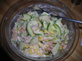 きゅうりとツナのサラダ