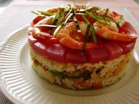 ★ケーキ型デコちらし寿司★