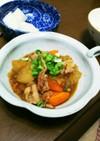豚肉と大根人参のオニオンソース炒め煮