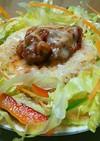 粗挽き肉のチリトマト味の応用例(1)
