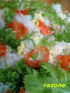 スモークサモンほろにがちらし寿司