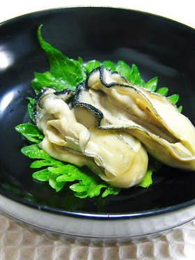 牡蠣の酒煮