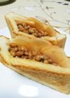 納豆と新生姜酢漬けトースト