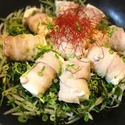 【ダイエット】肉巻き豆腐の野菜蒸しの写真