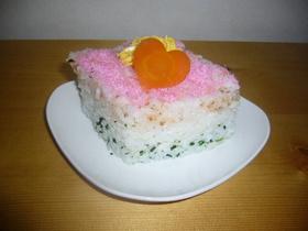 ふりかけでひな祭りのお寿司風