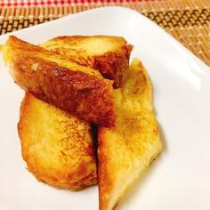 パンの耳でフレンチトースト☆