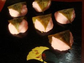 絶品!お手軽和菓子。桜餅。