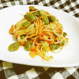 京 夏ずきんとトマトのサラダスパゲティ