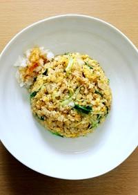 ツナと水菜の和風炒飯