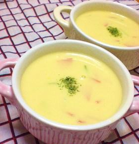 これでおいしく♡コーンスープ♪