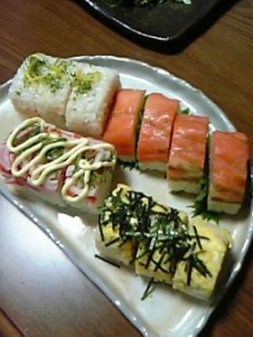 つい貯まっちゃう冷凍ご飯で☆棒寿司・4種
