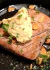 マグロのレアガーリックステーキ