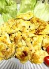 鶏胸肉のピカタ カレー味