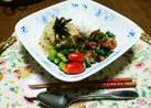 筍ご飯と鶏肉照り焼きのワンプレート!