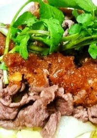 牛肉小間切れで☆ステーキ風丼ぶり♥簡単☆