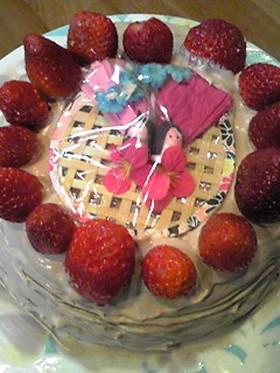[炊飯器] ひな祭りケーキ