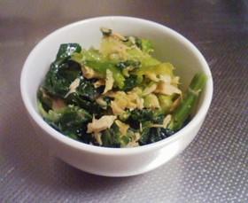小松菜のツナポン和え