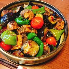 サバ缶と夏野菜の味噌炒め