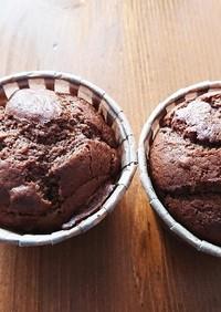青トマトジャム入りチョコケーキ
