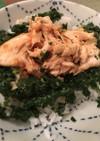 モロヘイヤ鶏ササミ丼