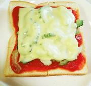 ゴーヤ・チーズトーストの写真