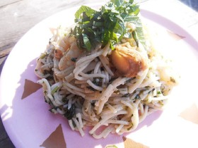 レクチンフリー☆魚介&バジルソースパスタ