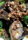 ナス ピーマンとひき肉の味噌炒め
