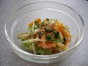 冷蔵庫の残り野菜でOK。温野菜の胡麻和えの写真