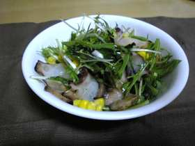 水菜とタコのサラダ