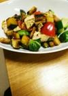 ごろっと野菜と鶏胸肉のパンサラダ