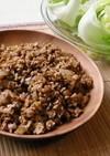 ひき肉納豆のレタス包み
