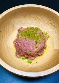 馬肉の生ハンバーグ☆犬ご飯
